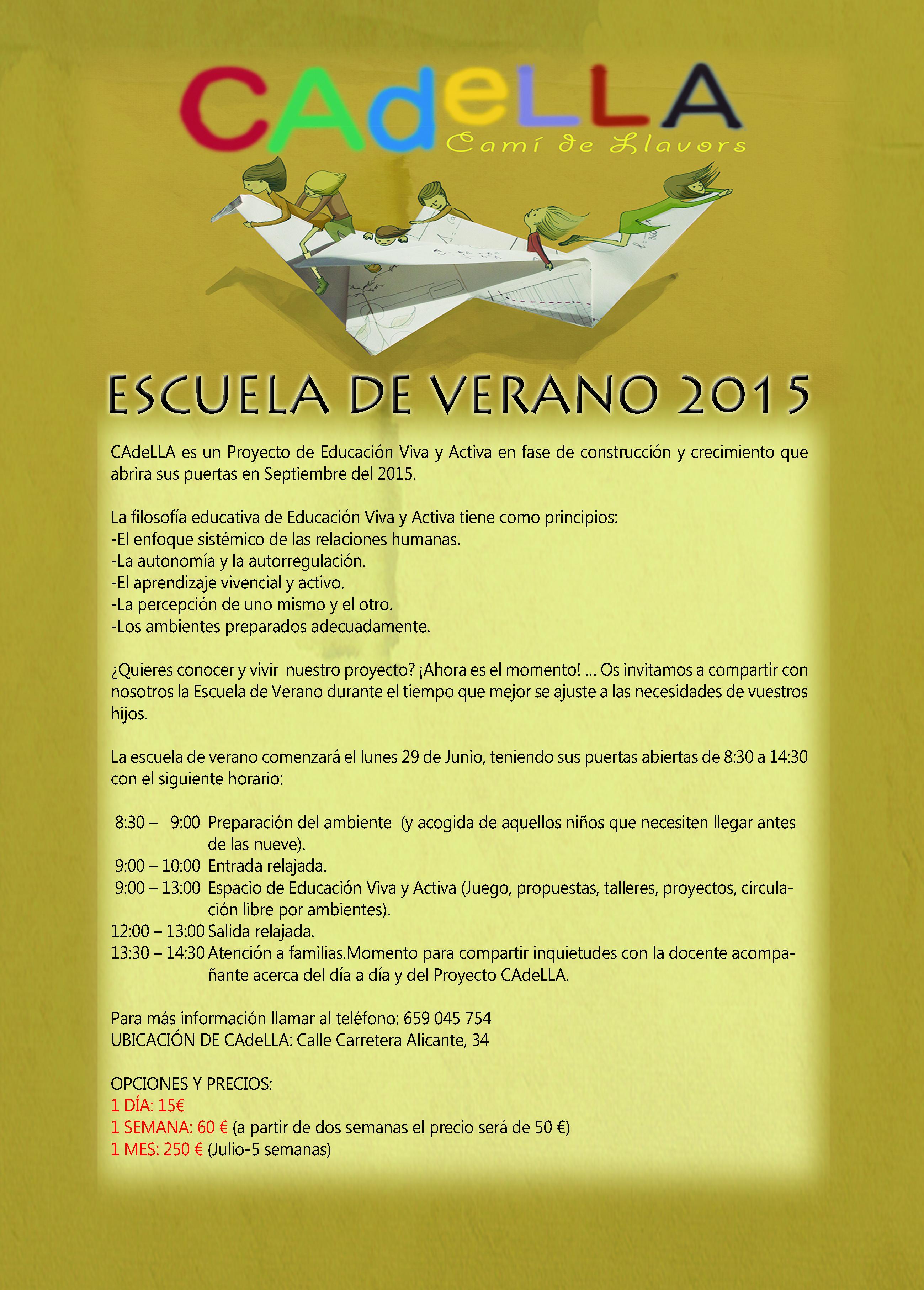 CARTEL-ESCUELA DE VERANO CADELLA 2015
